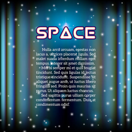 aberrations: Space background with lightened corridor and aberrations