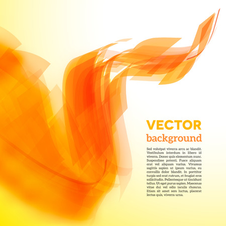 Vector spiral of yellow and orange lines with blurred edge Vector