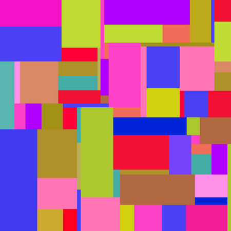 Flat colorful pattern with chaotic tiled rectangles Vector