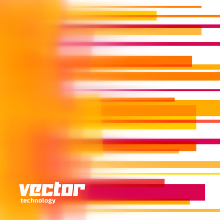 graphic elements: Vector background with orange lines and blurred edge