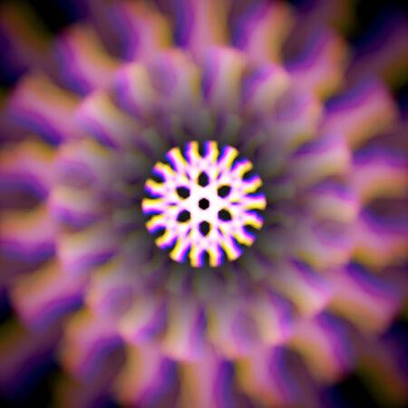 mystic: Mystic shiny wheel mandala with color aberrations