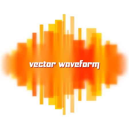 wavelength: Forma de onda del vector borrosa hecha de l�neas anaranjadas transparentes Vectores