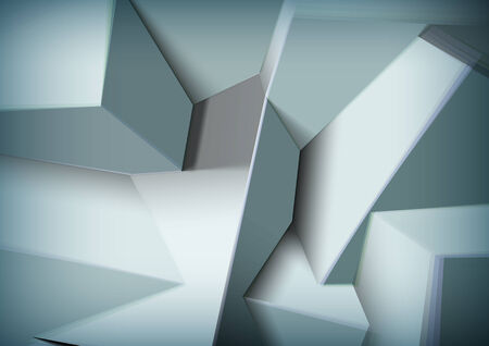 aberrations: Abstract background with realistic overlapping black cubes