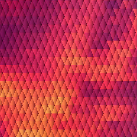 Sundown themed blurry background with diamond grid Vector