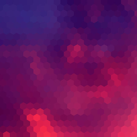 hex: Sundown themed blurry background with hex grid Illustration