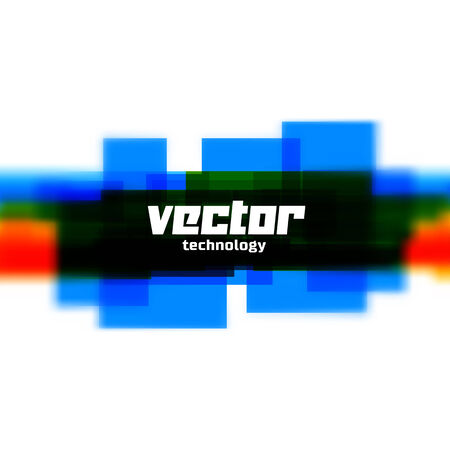 Vector background with blue lines and blurred edge Vector