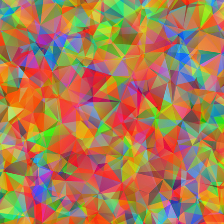 Digital colorful pattern with messy triangles grid Vector