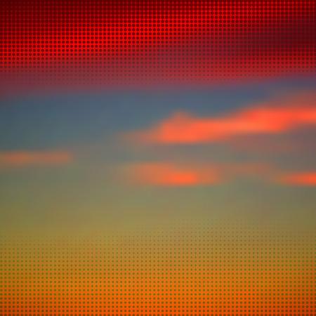 Abstract alba estate con mezzitoni overlay