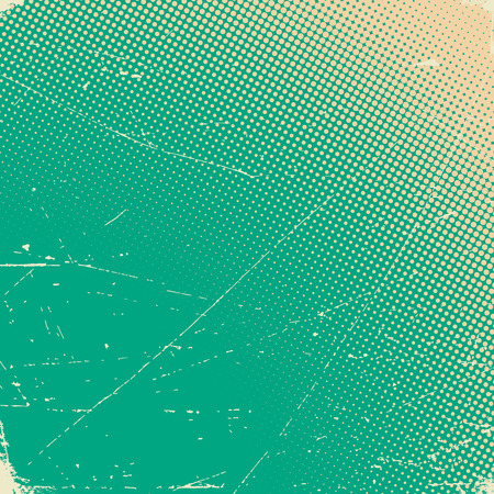 Old scratched paper card with halftone gradient Illustration
