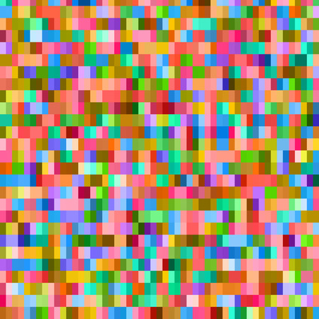retro computer: Digital colorful pattern with messy pixels grid Illustration