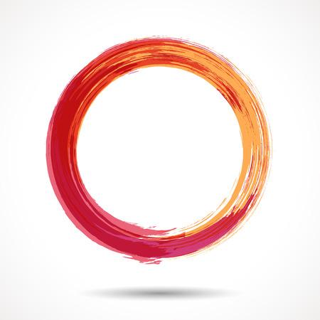 Orange and marsala fashion themed watercolor ring