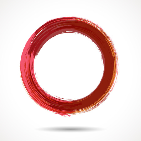 Pink and marsala fashion themed watercolor ring 일러스트