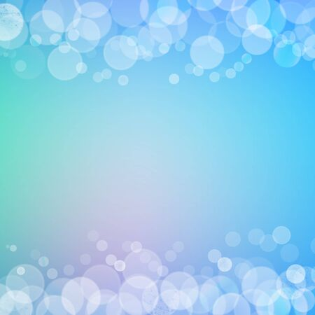 filtered: Abstract bokeh sparkles frame with blue blurred background
