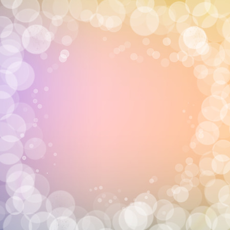 filtered: Abstract bokeh sparkles frame on pink blurred background