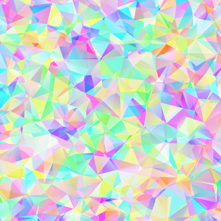 decoration messy: Digital colorful pattern with messy triangles grid Illustration