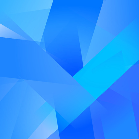 Abstract background with colorful blue overlapping transparent layers