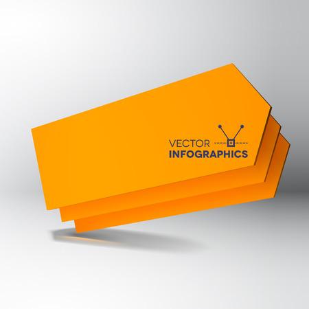 orange arrow: Abstract background with 3D orange arrow boards