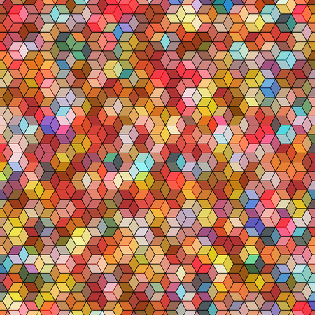 hex: Abstract background with stained glass hex polygons Illustration