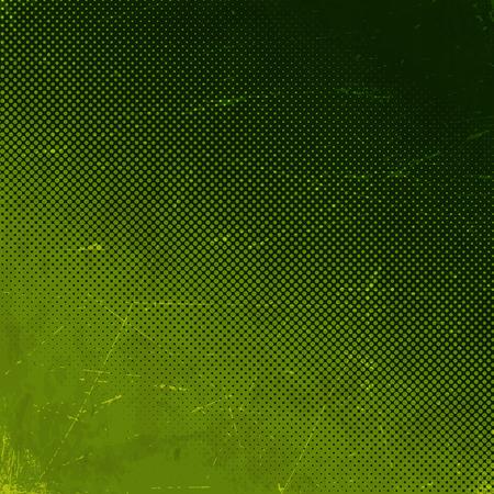 Stare zielone porysowana kartka papieru z półtonów gradientu