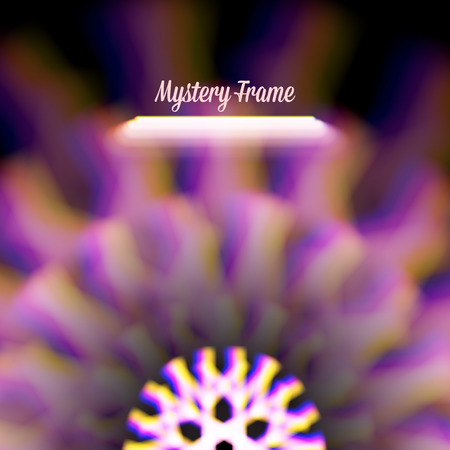mystic: Mystic shiny card with round ornament and color aberrations