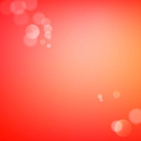filtered: Abstract bokeh sparkles on red blurred background