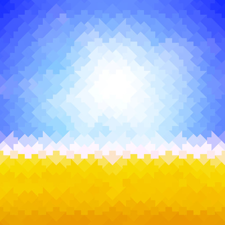 shiny background: Shiny sun background made of arrow pattern tiles Illustration