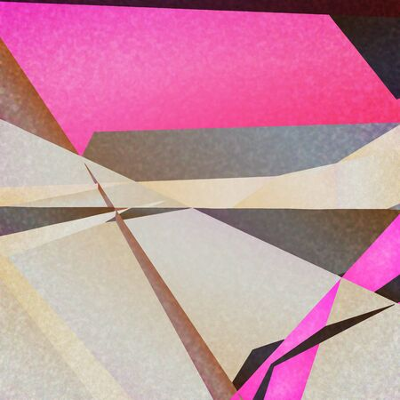 futurism: Retro geometric background with colorful shapes on textured paper
