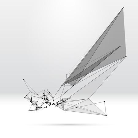 ドット グリッドおよび三角形セルと抽象的な背景