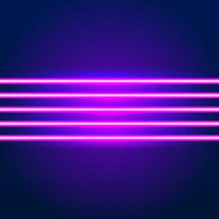 明るいネオン線 80 年代の背景スタイルとクロームの文字