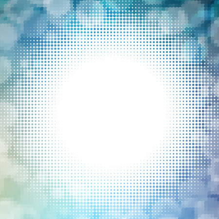 flares: Vector halftone dotted mosaic with sun flares and bokeh