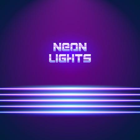 chrome letters: L�neas de ne�n brillante de fondo con las letras del estilo 80s y cromo
