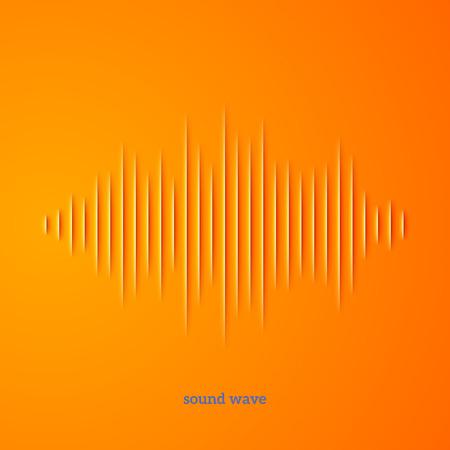 Papier gesneden geluid golfvorm met schaduw