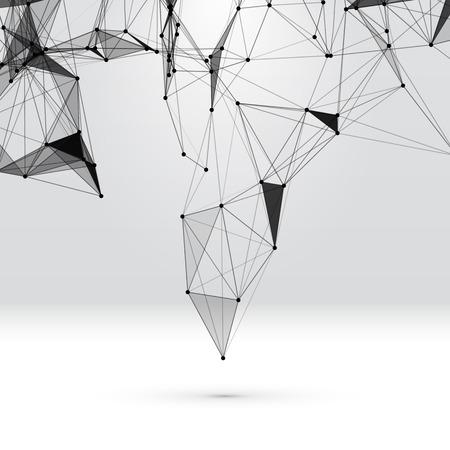 design: Résumé de fond avec grille en pointillés et les cellules triangulaires