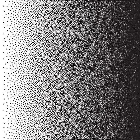 stochastic: Stochastic raster halftone gradient print, black and white
