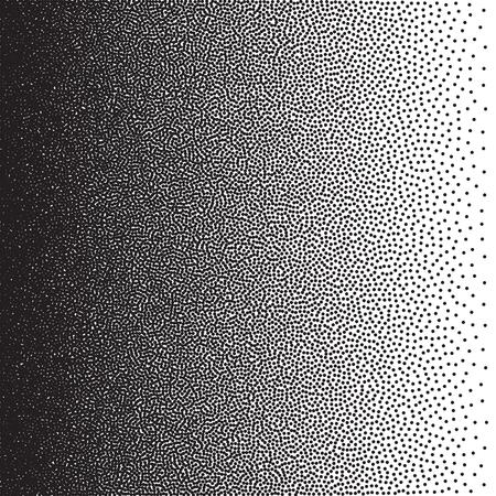 Stochastische raster halftoon gradiënt print, zwart en wit