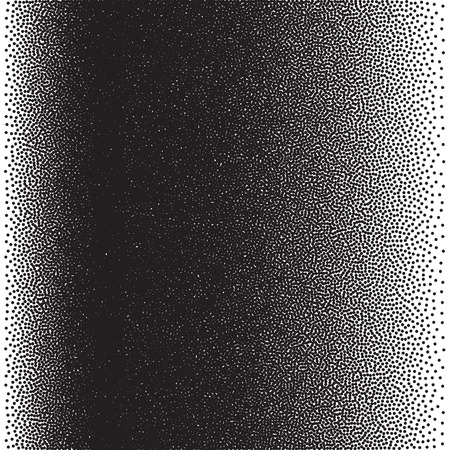 pop art background: Stochastic raster halftone gradient print, black and white