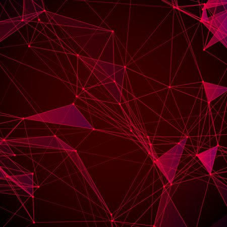 grid background: Abstract background with dotted grid and triangular cells