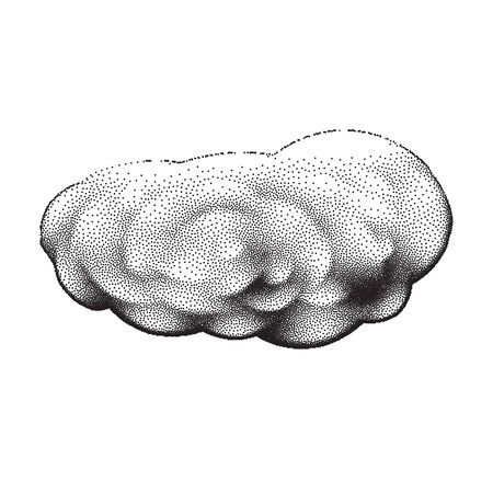 scalable: Scalable retro tattoo cloud with dotwork gradients