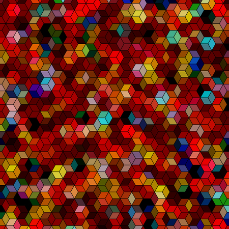 Abstract background with colorful red hex polygons
