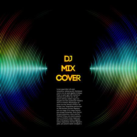 musica electronica: Mezclar DJ tapa con forma de onda de la música como ranuras de vinilo Vectores