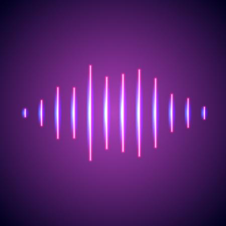 nightlife: Nightlife styled glowing neon lights music wave