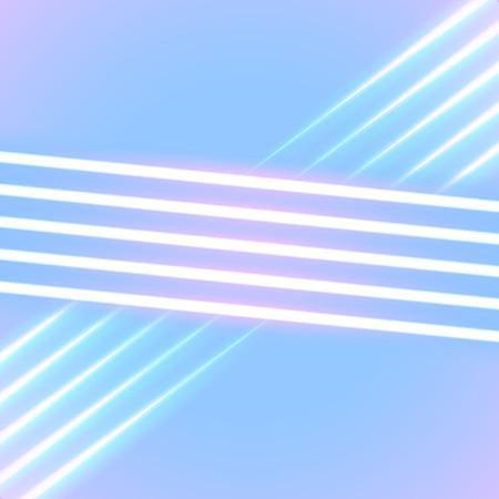 明るいネオン線 80 年代の背景スタイル