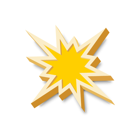 explosion: Bang explosion sign with 3D style and shadow