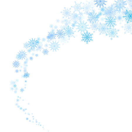 Christmas blue snowflakes blizzard stream in the light 免版税图像 - 49482913