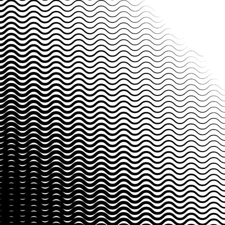 Arrière-plan avec gradient de lignes d'onde monochromes