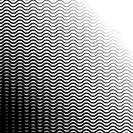 gradient background: Background with gradient of monochrome wave lines
