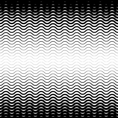 graphic art: Background with gradient of monochrome wave lines