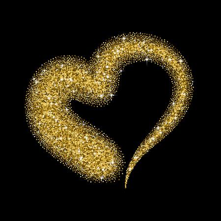 pasion: corazón del brillo con destellos para el Día de San Valentín