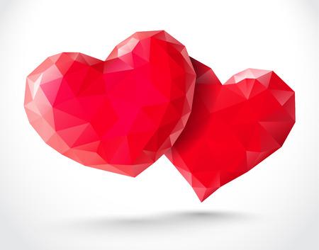 shiny hearts: Couple of shiny hearts for Valentines Day
