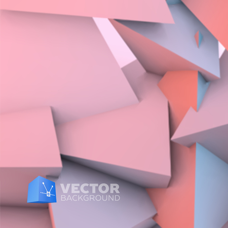 quartz: Abstract background with overlapping rose quartz and serenity pyramids Illustration